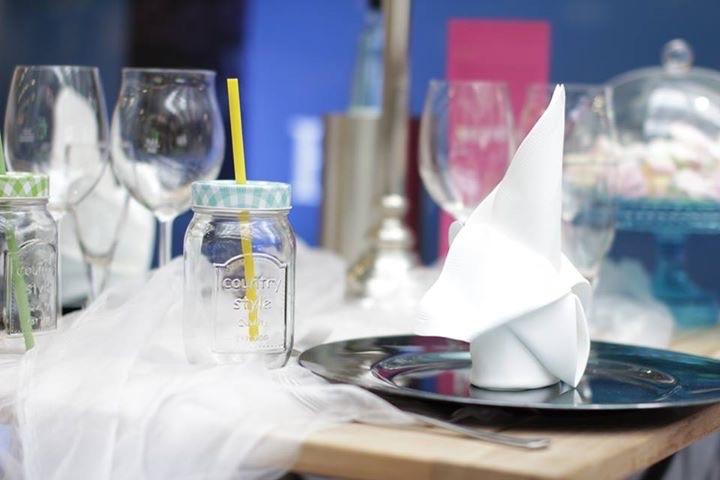 Landhotel Franck eingedeckter Tisch