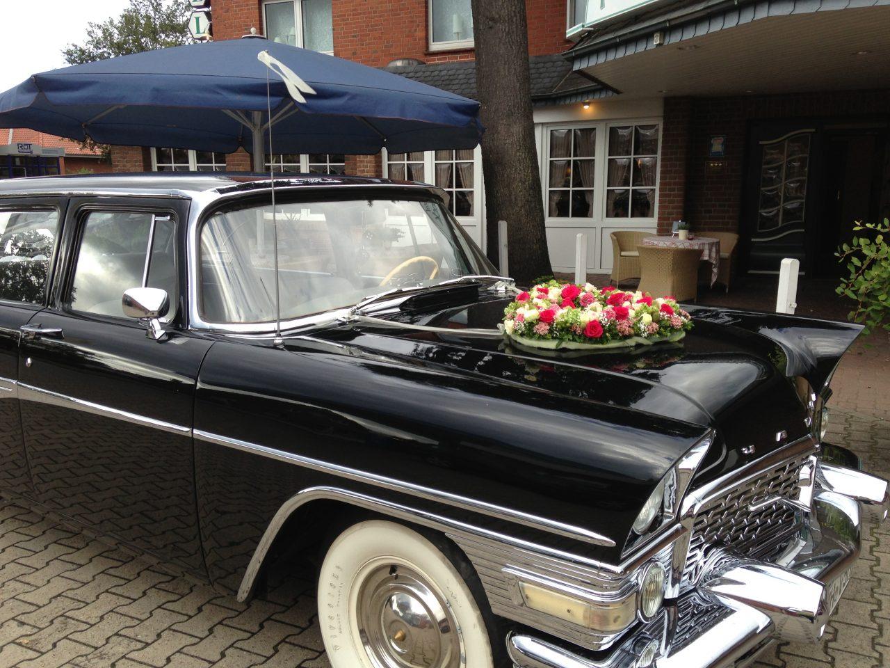 Landhotel Franck Hochzeitsauto